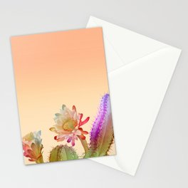 Peach Cactus Stationery Cards