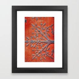 Gothic Red Door Framed Art Print