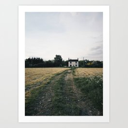 farm in the countryside Art Print