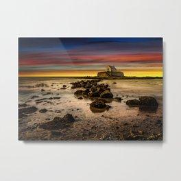 St Cwyfan Sunset Metal Print