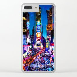 New York at Night Clear iPhone Case