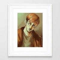 kieren walker Framed Art Prints featuring In the Flesh - Kieren Walker by SandraG.N.