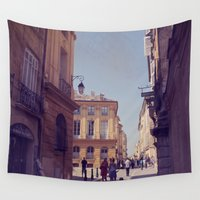 france Wall Tapestries featuring France Forever by ZBOY