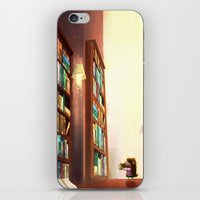 library iPhone & iPod Skins featuring Library by Stephanie Dominguez Art Shop