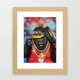 Rapper of the apes Framed Art Print