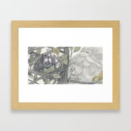 The Eagle and the Owl Framed Art Print