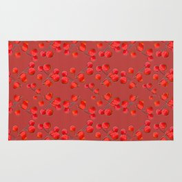 Alizarin Pomegranate Berries Rug
