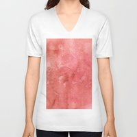 champagne V-neck T-shirts featuring Champagne Sunset by Andrea Gingerich
