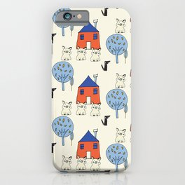 Tree Little Pigs Pearl iPhone Case
