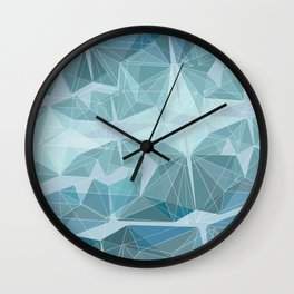 Winter geometric style - minimalist Wall Clock