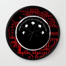 environmental sound collapse - MIDI/circuit board Wall Clock