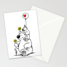 Papa Bear & Baby Bear Stationery Cards
