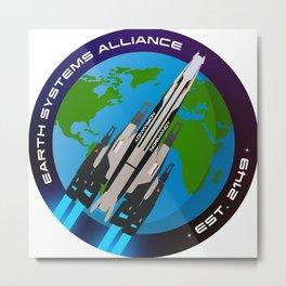 Mass Effect 'Normandy SR2' ESA Badge Metal Print