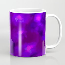 Ultra Violet Spring Floral Abstract Coffee Mug