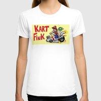 mario kart T-shirts featuring Kart Fink Big Bro! by Avedon Arcade