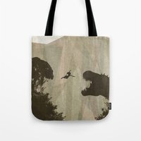 tomb raider Tote Bags featuring Tomb Raider by s2lart