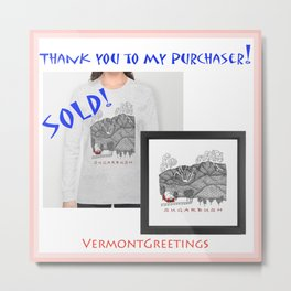 SOLD Sugarbush Framed Print and Long Sleeved Tshirt.  Metal Print