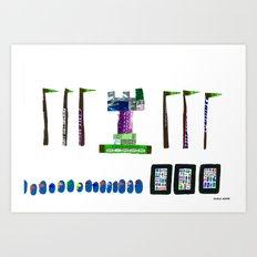 history, people, and vending machines, ii Art Print