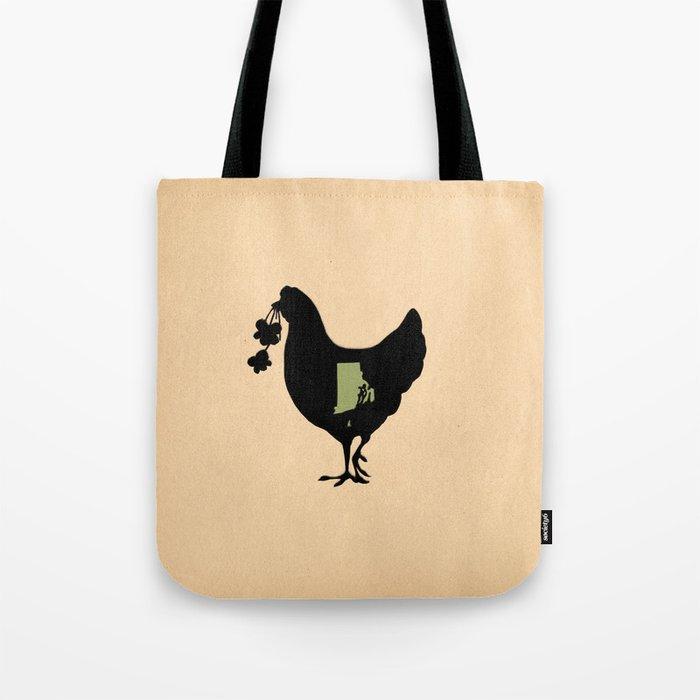 Rhode Island - State Papercut Print Tote Bag