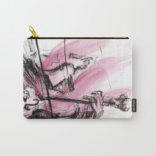 Two Violins Carry-All Pouch