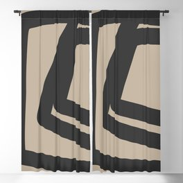 Neutral Abstract 4B Blackout Curtain