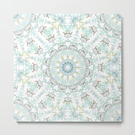 Cotton Mandala Metal Print