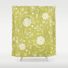 Sunny floral pattern Shower Curtain