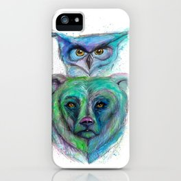 Owl and Bear Totem iPhone Case
