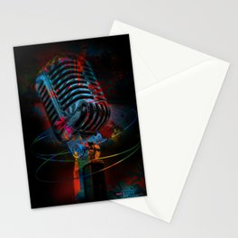 Into the Microphone Stationery Cards