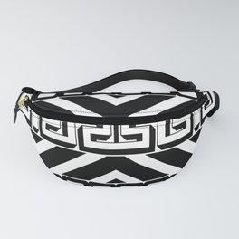 PLAIN BLACK AND WHITE MODERN ART ABSTRACT DESIGN Fanny Pack