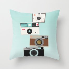 Retro Camera Print  Throw Pillow