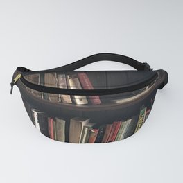 The Bookshelf in the Library, portrait, vibrant Fanny Pack