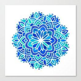 Mandala Iridescent Blue Green Canvas Print