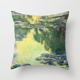 Claude Monet - Water Lilies ,1907 - Digital Remastered Edition Throw Pillow