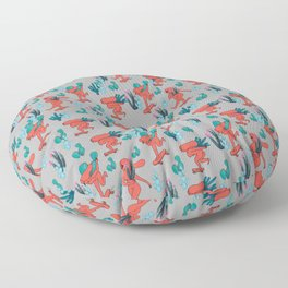 PICKING CACTUS -gray Floor Pillow