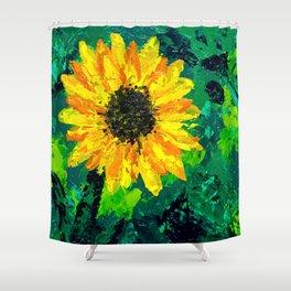 Sunflower on a Field of Green Shower Curtain
