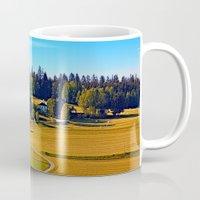 farm Mugs featuring From farm to farm by Patrick Jobst