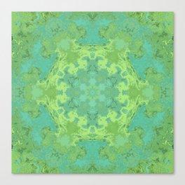 Verdant Mandala Canvas Print