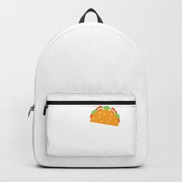 I Wonder If Tacos Think About Me Too Funny Gift design Backpack