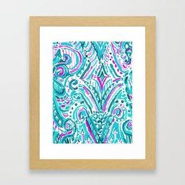 MAKING WAVES TRIBAL Framed Art Print