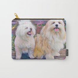 Lucy and Beau dogs Carry-All Pouch