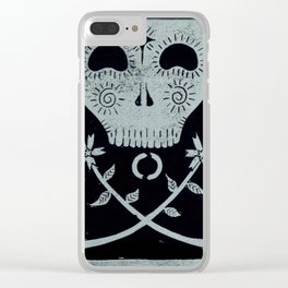 Acceptance (Black) Clear iPhone Case