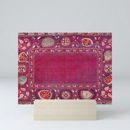 Shakhrisyabz  Southwest Uzbekistan Suzani Embroidery Print Mini Art Print
