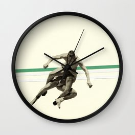 The Wrestler Wall Clock