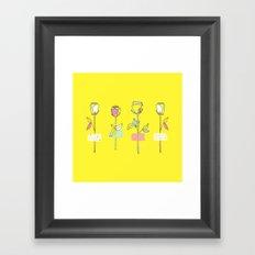 Rosewall (on yellow) Framed Art Print