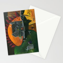 Hilly Haunted House Stationery Cards