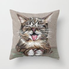 Cat *Lil Bub* Throw Pillow