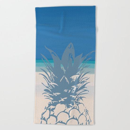 Pineapple Tropical Beach Design Beach Towel