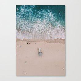 From Above | Lifeguard tower Venice Beach, California Canvas Print