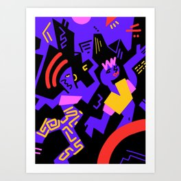 Crazydance Art Print